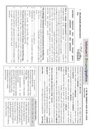 English Worksheet: women�s emancipation