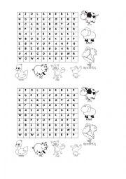 farm animals letter soup