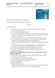 English Worksheet: a foreign student in Britain