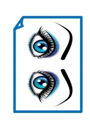 English Worksheet: Body & Face Flashcards & Wordcards