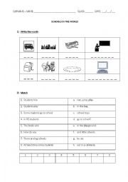 English worksheet: Schools in the world