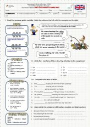 English worksheet: Past Continuous vs Past Simple