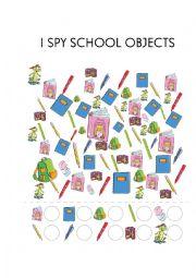 English Worksheet: I spy School Objects Bugs team 1