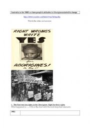 Australia in the 1960´s or how the government ´s policy towards the Aborigines started to change