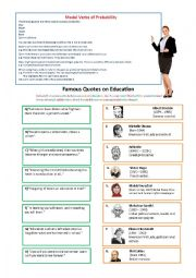 English worksheet: Quotes about Education