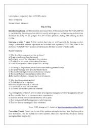 English Worksheet: Preparatory short-class for Proficiency Tests
