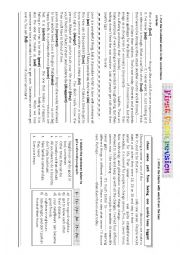 English Worksheet: language activities 1st form