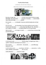 English Worksheet: The life of Elvis Presley