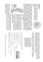 English Worksheet: Animal - bald eagle