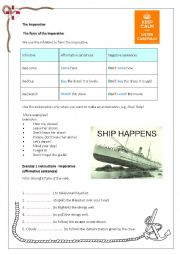 English Worksheet: Imperative CEF A2 Evacuation and boat drill instructions