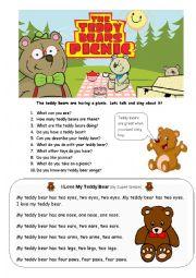 English Worksheet: Teddy Bear Talk