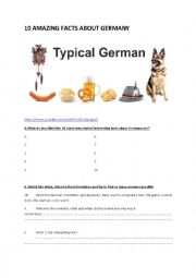 English Worksheet: 10 amazing facts about Germany