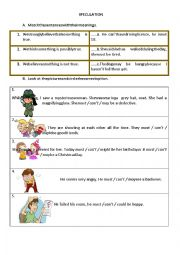 English Worksheet: speculation