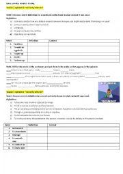 English Worksheet: Modern Family series task. Season 1, episode 3, 4