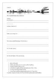 English Worksheet: Sydney