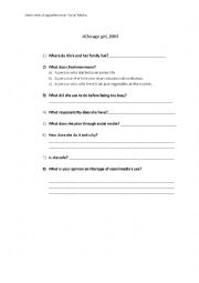 English Worksheet: Chicago girl