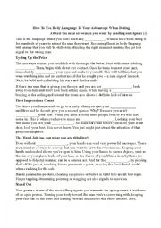 English Worksheet: February 14th worksheet - Body language