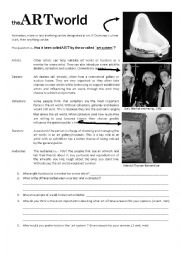 English Worksheet: The ART World