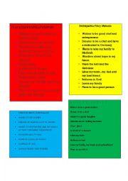 English Worksheet: Bio-Poems (16 Poems HSK18)