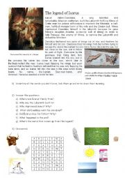 Reading Comprehension - The Legend of Icarus