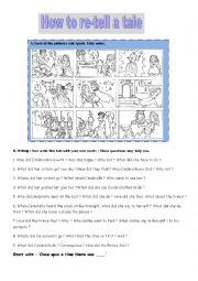 English Worksheet: Cinderella speak&write