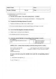 English Worksheet: First term global test 4th grade