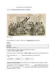 Slave auction in 19th century America