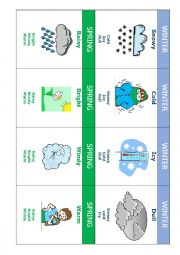 English Worksheet: weather go fish game