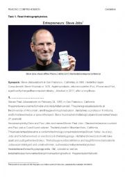 Reading comprehension - Steve Jobs - biography