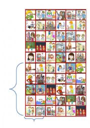 English Worksheet: Bingo game about daily routines