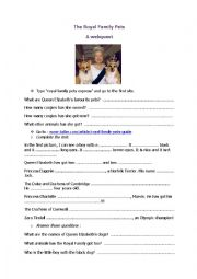 English Worksheet: The Royal Family Pets