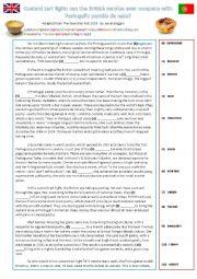 Custard Tart FCE Practice Reading with deabte
