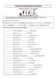 English Worksheet: Double comparatives 2