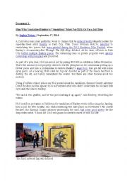 English worksheet: Some people´s reactions to Banksy´s artworks