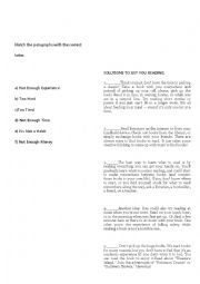 English worksheet: READING WORKSHEET