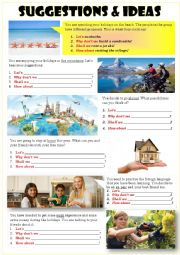 English Worksheet: SUGGESTIONS & IDEAS