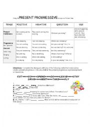 English worksheet: Using the present progressive to express future time