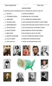 English Worksheet: American Heroes