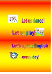 English Worksheet: Chant