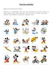 English Worksheet: Free time activities Disney