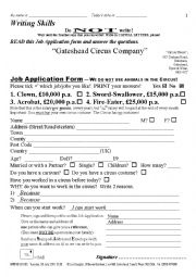 APPLICATION FORM 003 Circus Jobs