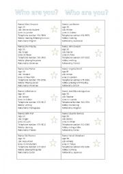 English Worksheet: Set of 46 cards - speaking activity