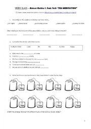 English Worksheet: Tea meditation by Robert Holden