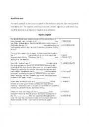 FCE Use of English Word Formation