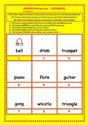 English Worksheet: COLOURING, Vocabulary, 016 ... MUSIC