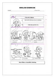 English Worksheet: ENGLISH EXERCISE