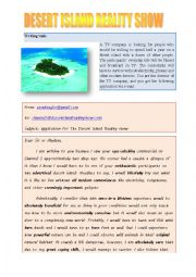 English Worksheet: Desert Island