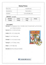 English Worksheet: Henny Penny Reader Theater Script