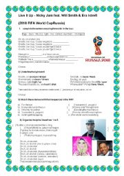 Worksheet - Live it up - (2018 FIFA World Cup Russia)