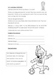 English Worksheet: Russia 2018 world cup